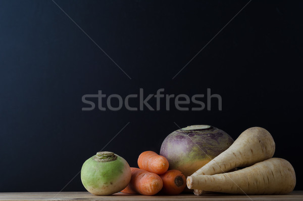 Root Vegetable Still Life Arrangement Stock photo © frannyanne