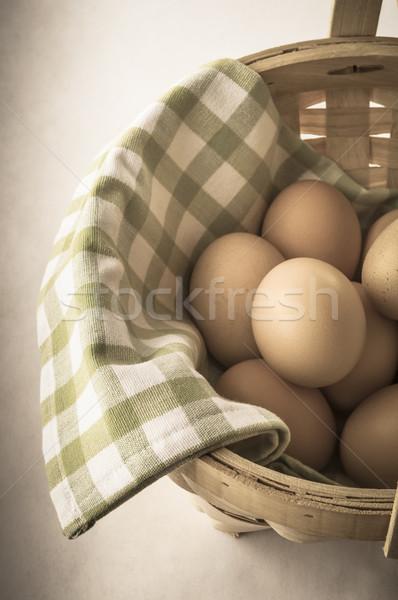 Egg Basket with Vintage Effect Stock photo © frannyanne