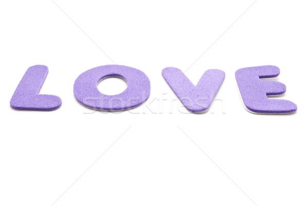 любви письма слово из розовато-лиловый Сток-фото © frannyanne