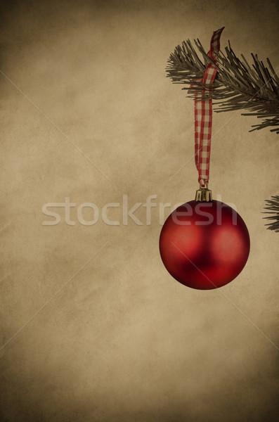 Rosso Natale gingillo vintage stile impiccagione Foto d'archivio © frannyanne