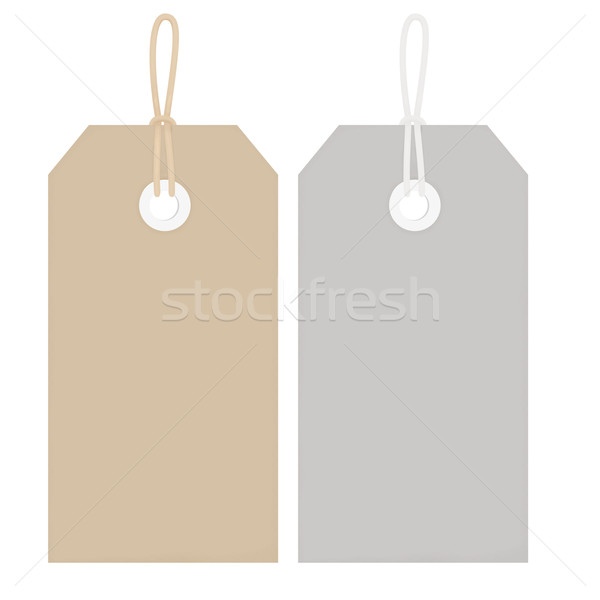 Price Tags with String - Buff and Grey Stock photo © frannyanne