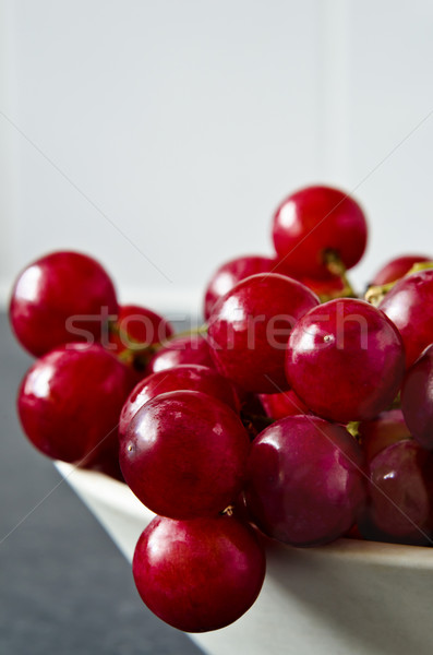 Red Grapes at Bowl Edge Stock photo © frannyanne