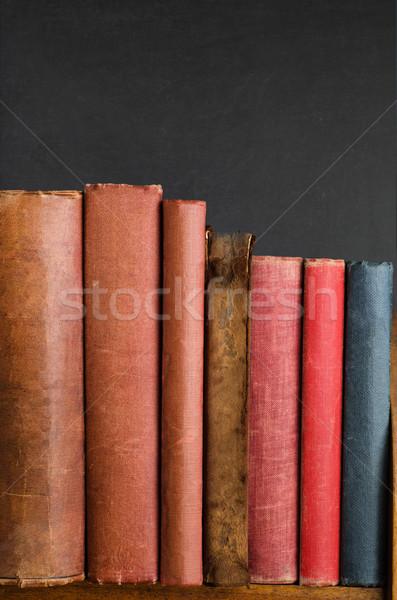 Shelf of Old Vintage Books Stock photo © frannyanne