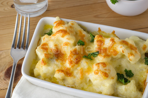 Cauliflower Cheese Meal Served Stock photo © frannyanne