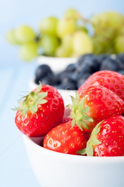 Variedade frutas separado branco cerâmico Foto stock © frannyanne