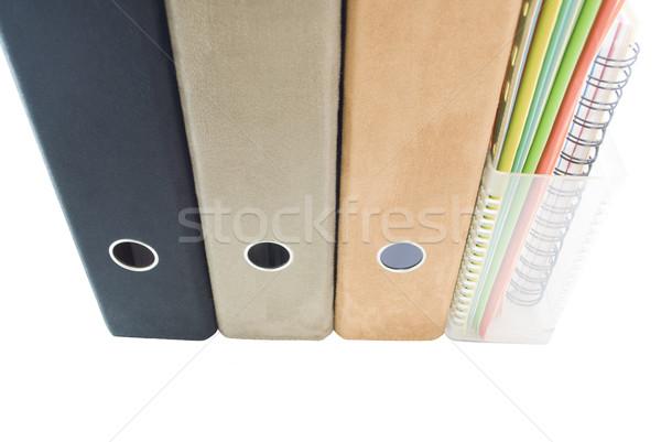 Plataforma carpetas archivos palanca arco Foto stock © frannyanne