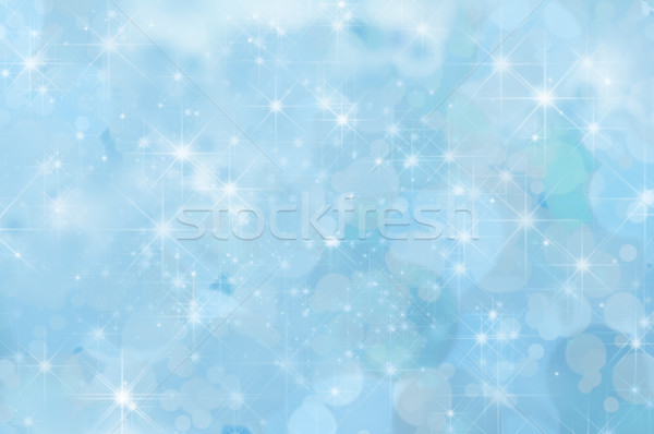 Pale Blue Abstract Star Background Stock photo © frannyanne