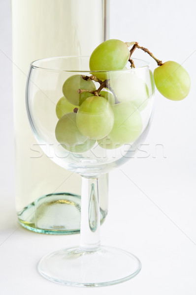White Wine Grapes in Glass Stock photo © frannyanne