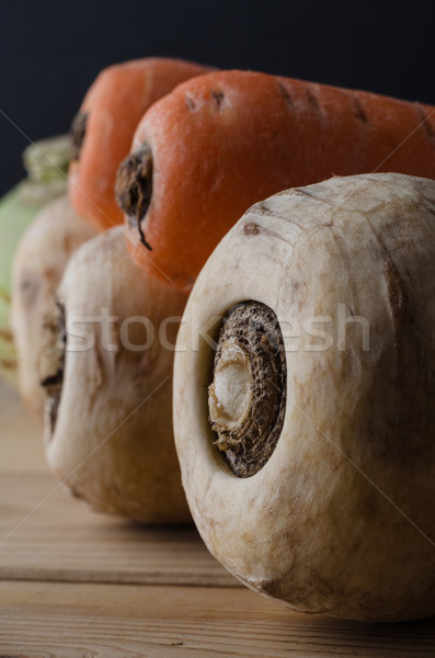 Root Vegetables on Wooden Table Stock photo © frannyanne