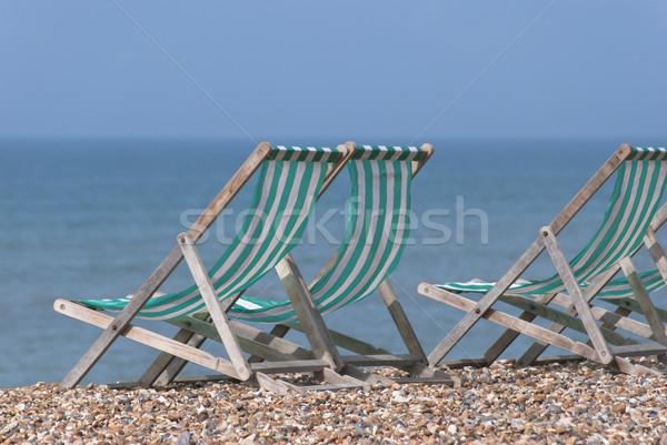 пляж зеленый белый полосатый Сток-фото © frannyanne