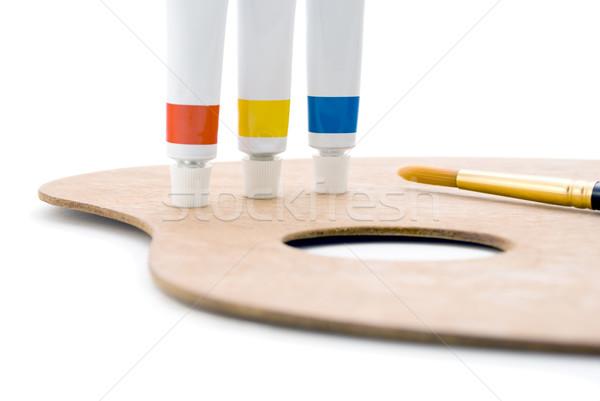первичный палитра мнение три Трубы Сток-фото © frannyanne