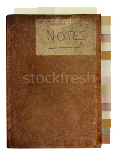 Grungy Old Notebook with Tabs Stock photo © frannyanne