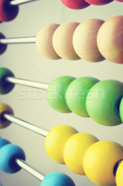 Abacus Beads Angled  - Retro Version Stock photo © frannyanne