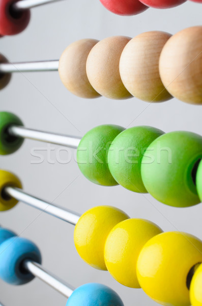 Abacus Beads Angled Close Up Stock photo © frannyanne