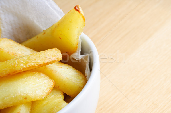 Bowl of Chips Close Up Stock photo © frannyanne