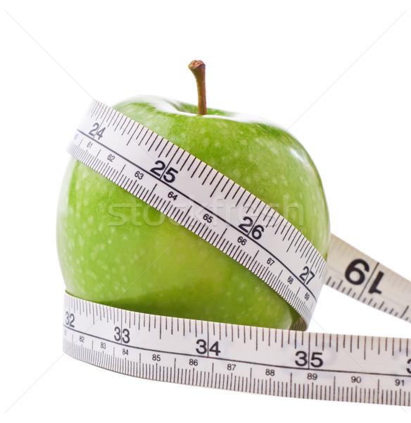 Diety jabłko zielone błyszczący biały metryczny Zdjęcia stock © frannyanne