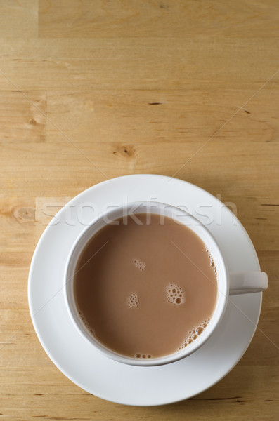 Cup of Tea on Wooden Table Stock photo © frannyanne