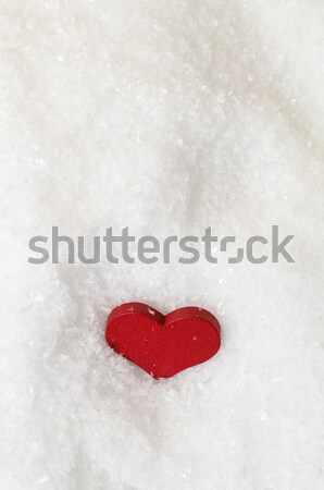 Red Heart Settled into Snow Stock photo © frannyanne
