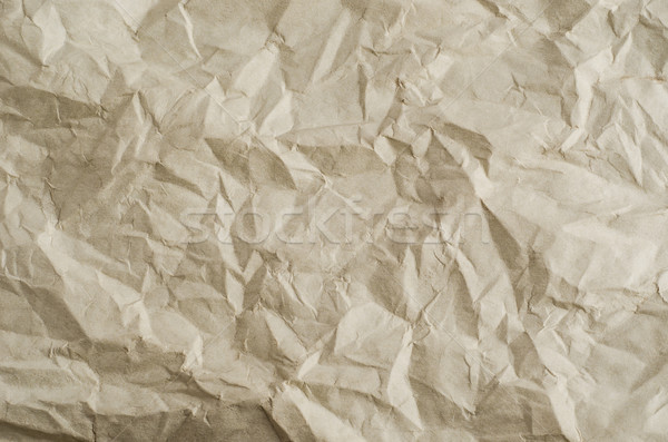 Unfolded Crumpled Neutral Paper with Creases Stock photo © frannyanne
