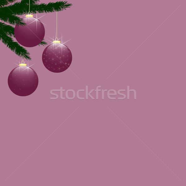 Christmas Tree Baubles on Rose Pink Stock photo © frannyanne