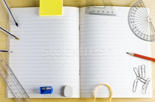 学校 練習帳 文房具 ショット 光 ストックフォト © frannyanne
