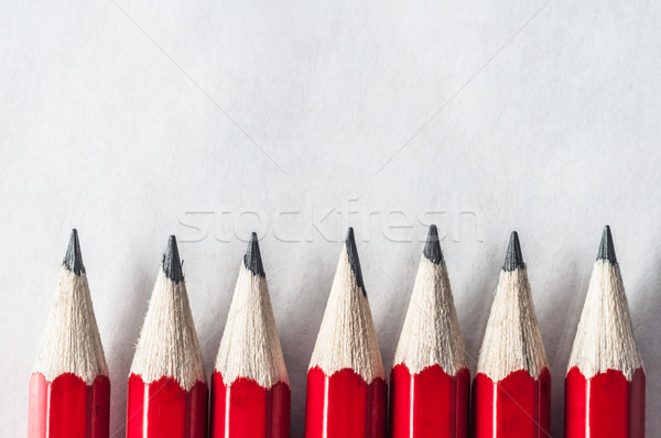 Red Pencil Border Stock photo © frannyanne