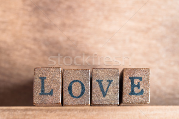 Love Spelled Out Stock photo © frannyanne