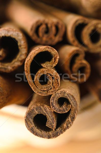 Cinnamon Sticks Close Up Stock photo © frannyanne