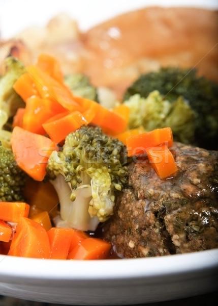 Vegetarian Sunday Roast Dinner Stock photo © frannyanne