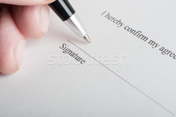 Signing a Legal Document Stock photo © frannyanne