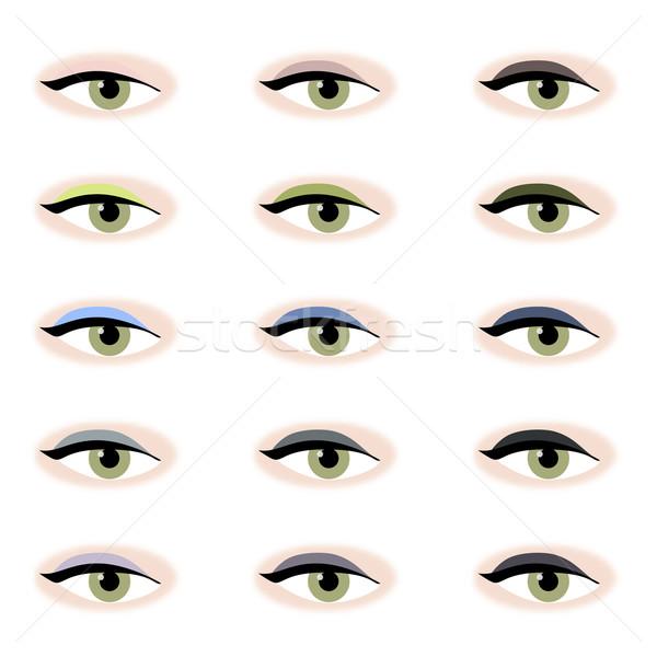 Eye Shadow Colours Stock photo © frannyanne