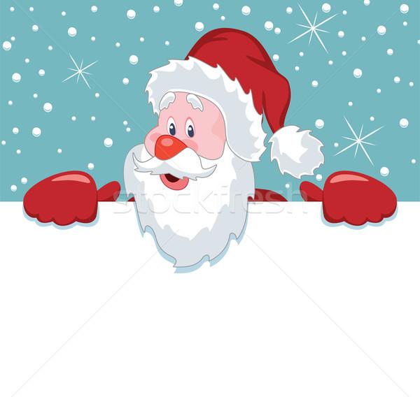 ストックフォト: ベクトル · サンタクロース · 白紙 · クリスマス · 実例