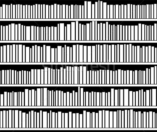 Stock Photo Vector Abstract Black And White Bookshelf Illustration Of