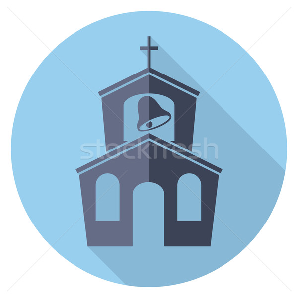 vector flat symbol or icon of church building  Stock photo © freesoulproduction