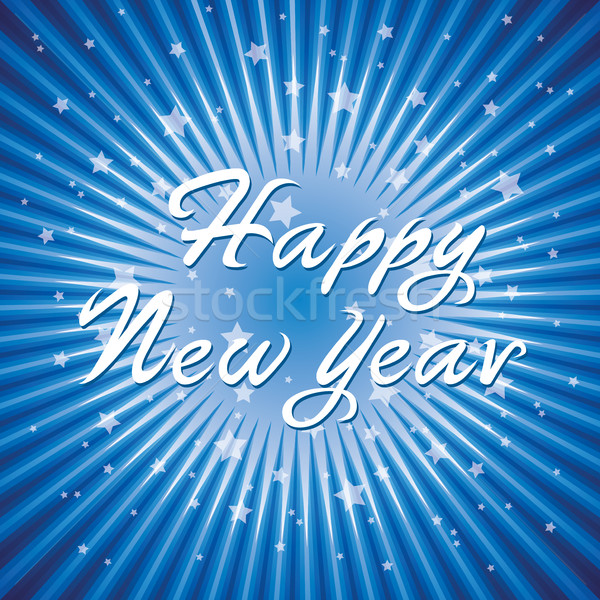 vector abstract happy new year background with radial star burst Stock photo © freesoulproduction