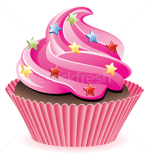 pink cupcake Stock photo © freesoulproduction