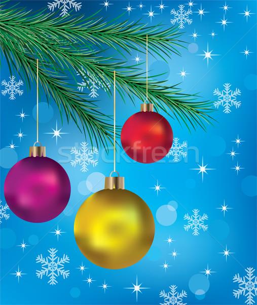 вектора зима праздник украшение стекла знак Сток-фото © freesoulproduction