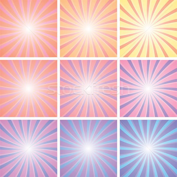 вектора ретро набор текстуры солнце аннотация Сток-фото © freesoulproduction