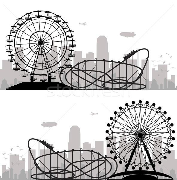Vettore città parco di divertimenti cielo abstract Foto d'archivio © freesoulproduction