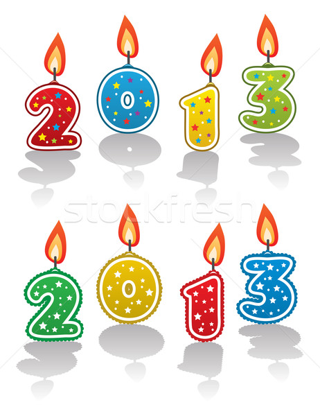 vector new year 2013 candles Stock photo © freesoulproduction