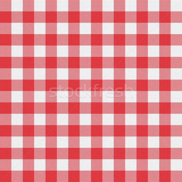 vector picnic tablecloth pattern Stock photo © freesoulproduction