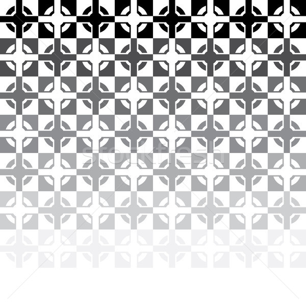 vectoк black and white abstract tile mosaic Stock photo © freesoulproduction