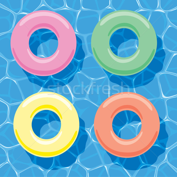 Vector zomer opblaasbare ringen water Stockfoto © freesoulproduction