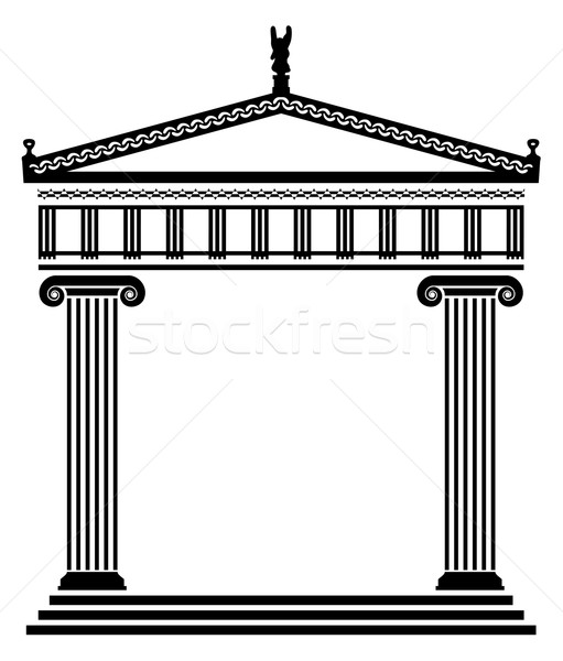 Vecteur anciens grec architecture colonnes bâtiment Photo stock © freesoulproduction
