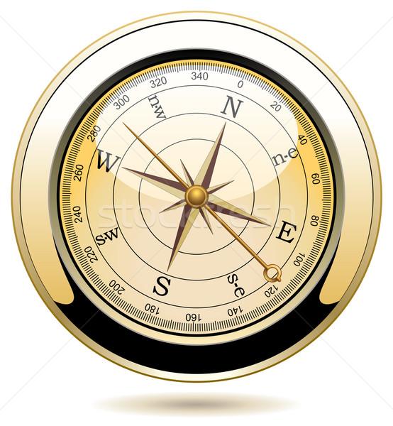 Stockfoto: Vector · vintage · kompas · kaart · zee · wereld