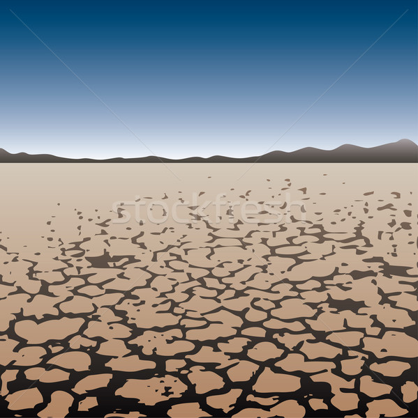 vector dry land in desert Stock photo © freesoulproduction