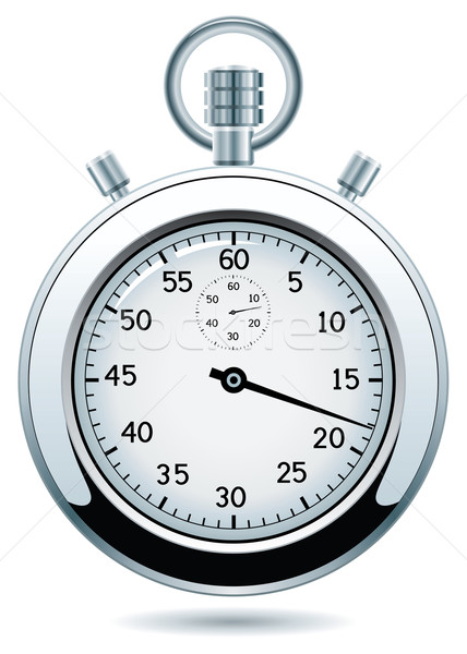 Vector plata cronógrafo diseno negocios reloj Foto stock © freesoulproduction