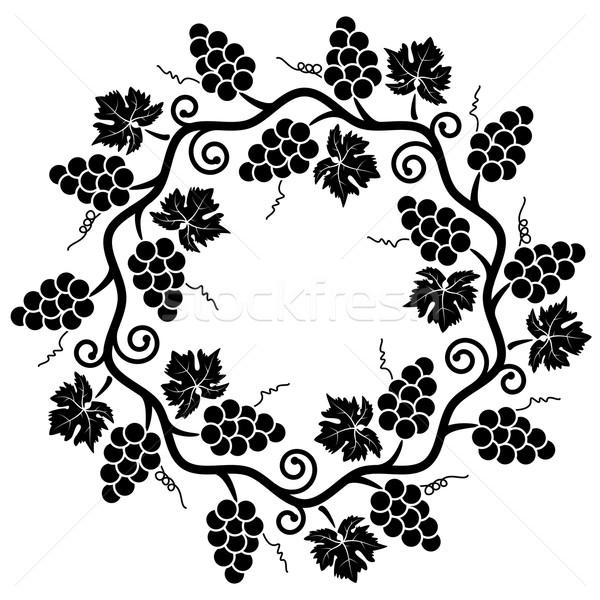 Vector decoración de uva vid fondo marco Foto stock © freesoulproduction