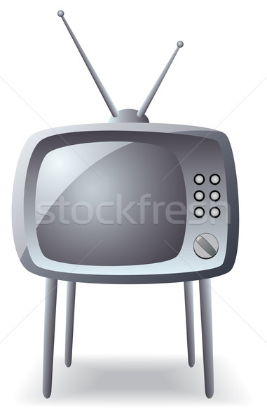 Stock photo: gray retro tv set