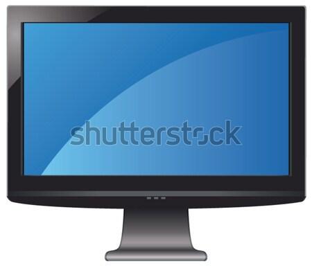 Vetor lcd tela vazio exibir computador Foto stock © freesoulproduction